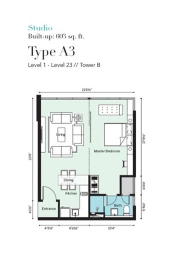 Tropicana Metropark Pandora - Type A3 Floor Plan