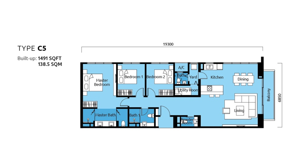 Tropicana Metropark Paisley - Type C5 Floor Plan