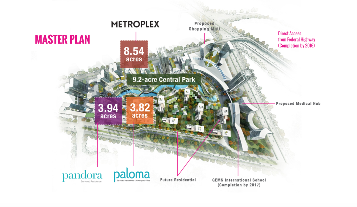 Master Plan of Tropicana Metropark
