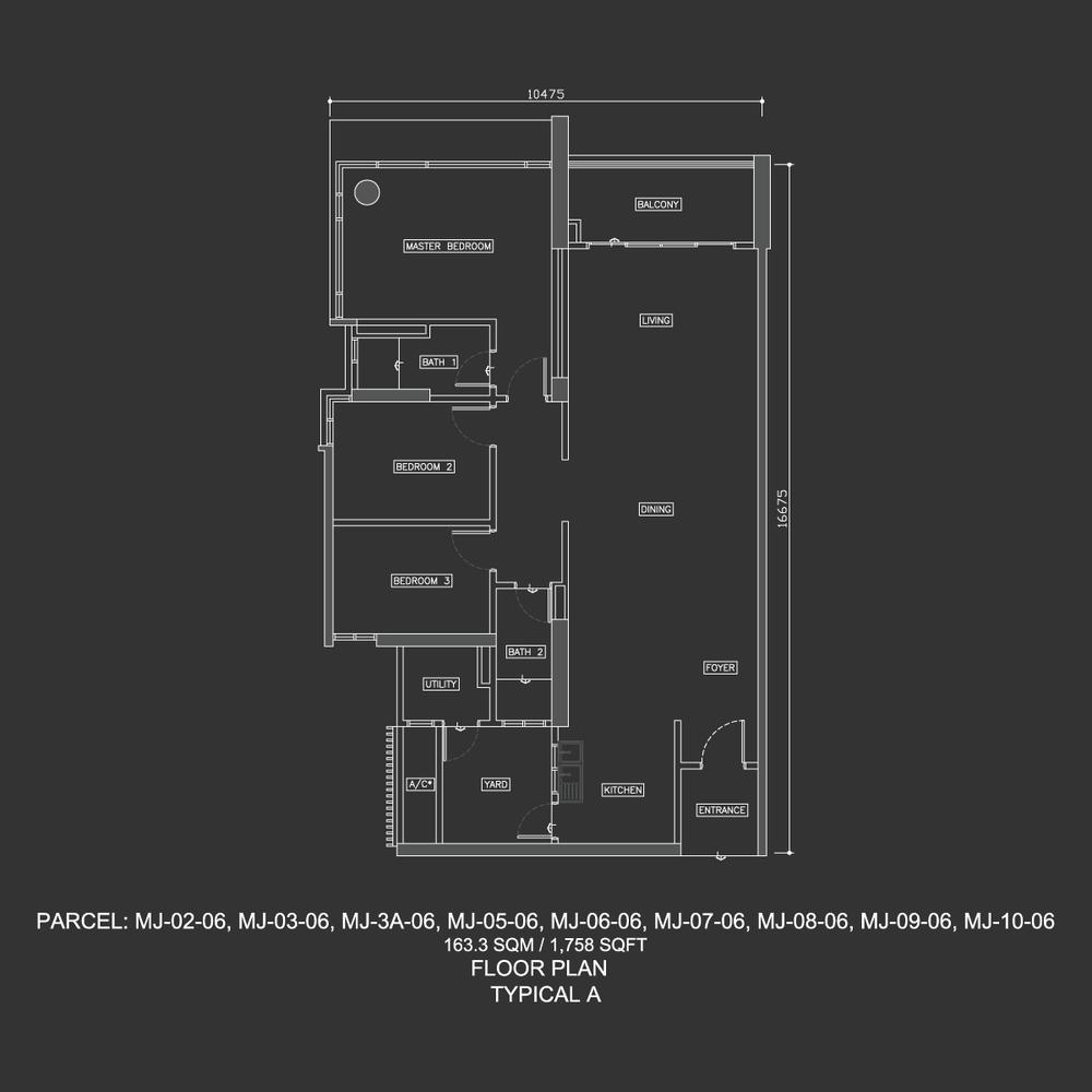 Dua Menjalara Typical A Floor Plan