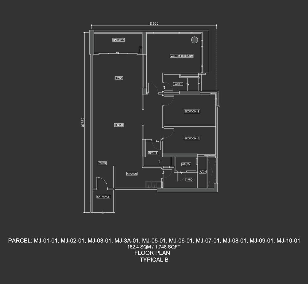 Dua Menjalara Typical B Floor Plan