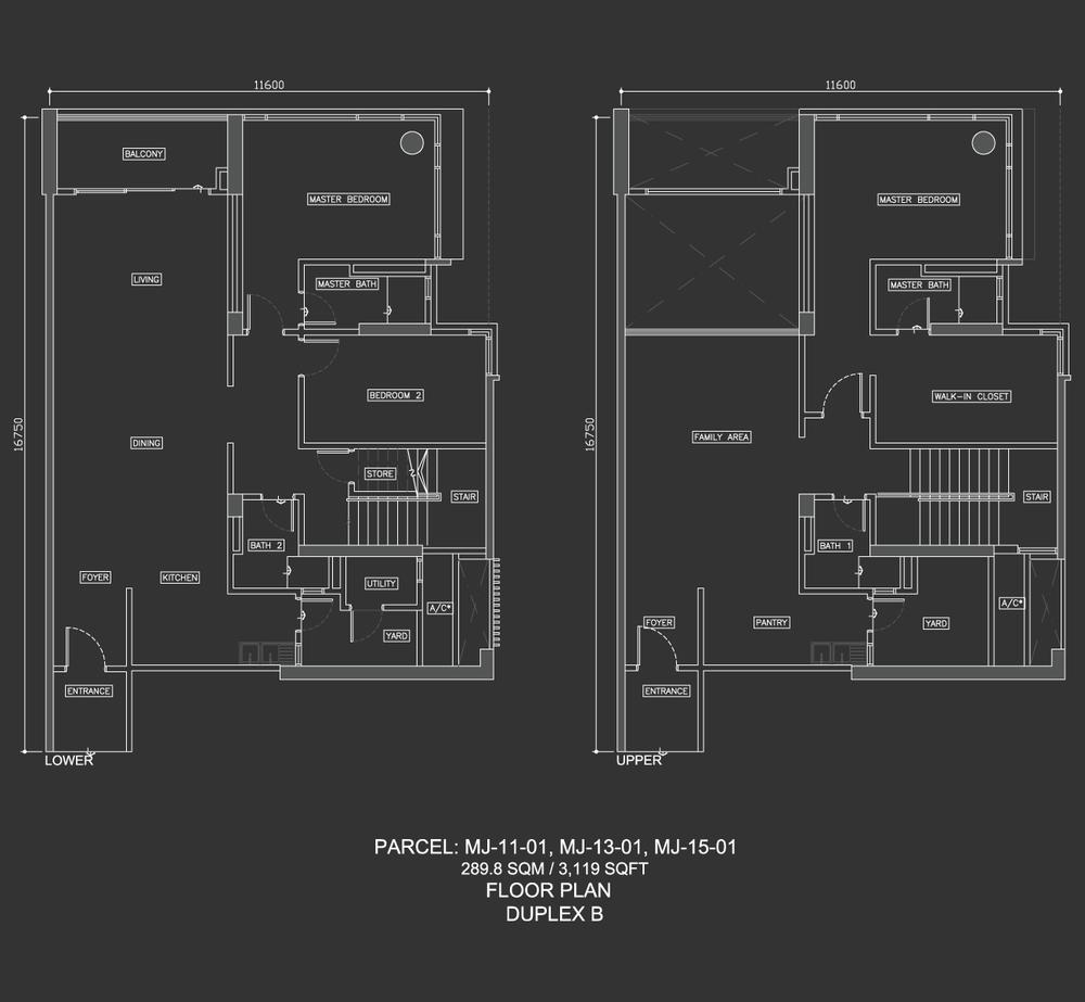 Dua Menjalara Duplex B Floor Plan