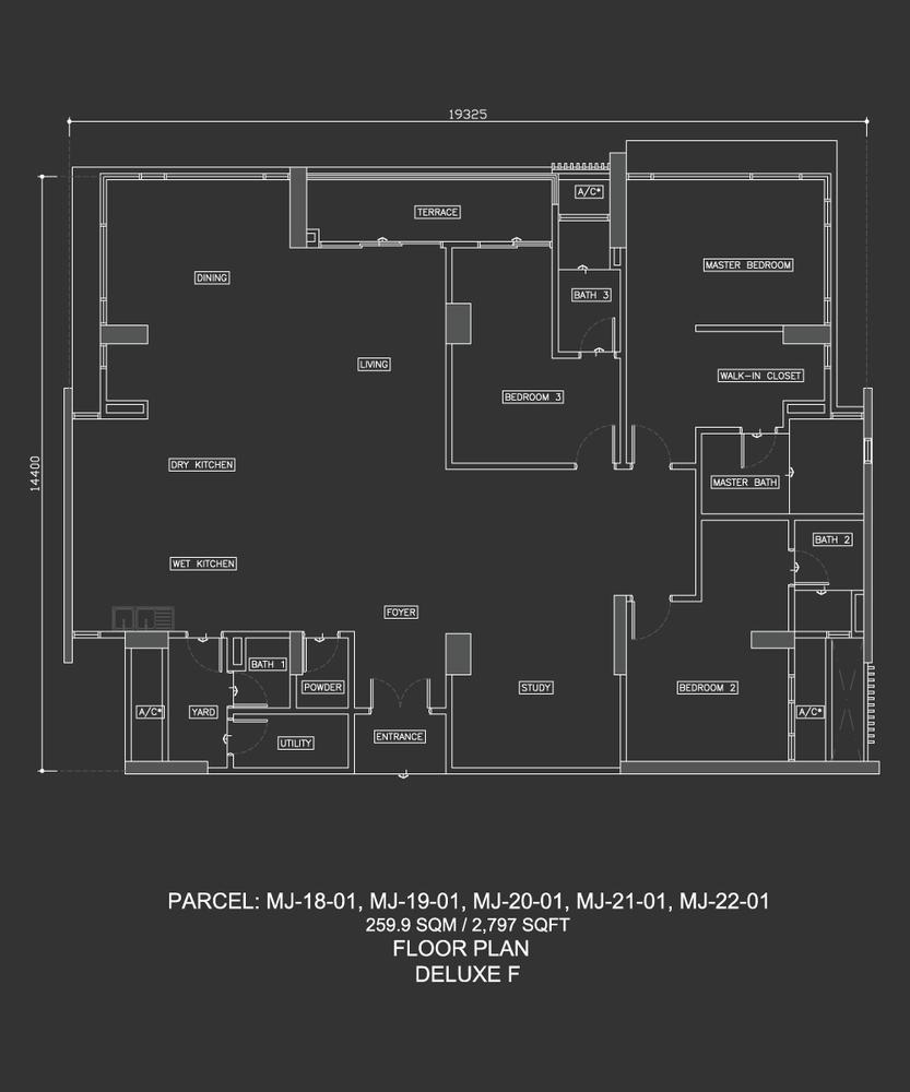 Dua Menjalara Deluxe F Floor Plan
