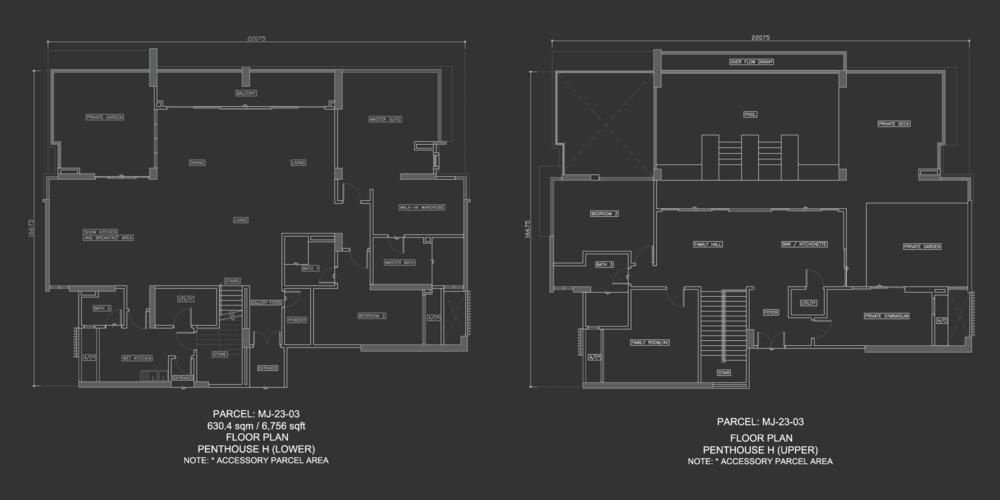 Dua Menjalara Penthouse H Floor Plan