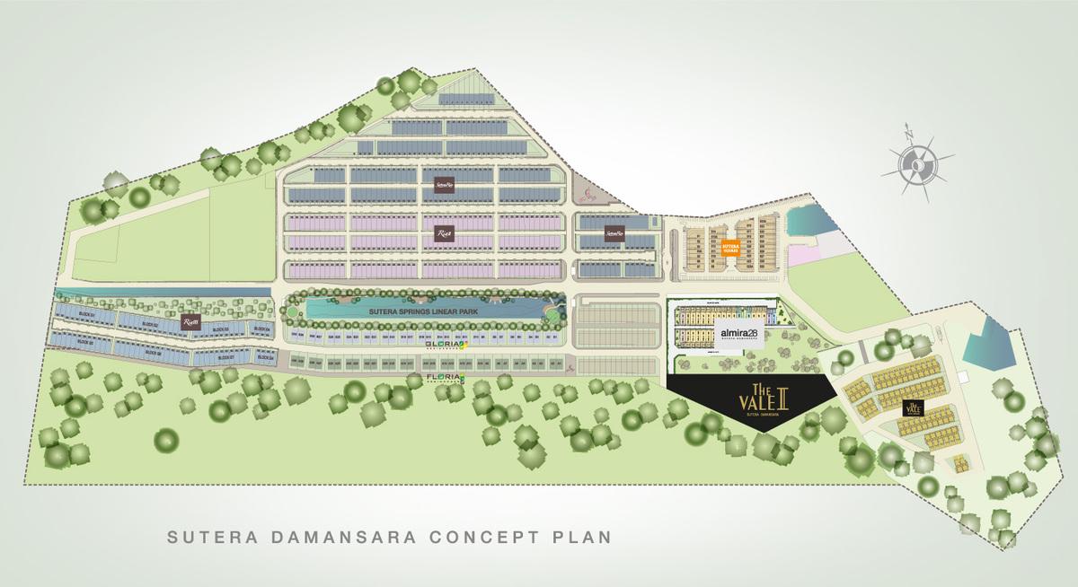 Master Plan of The Vale @ Sutera Damansara