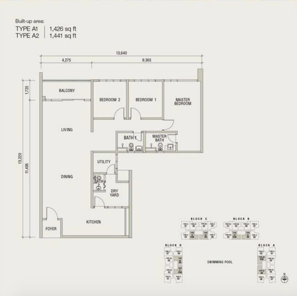 Damansara Foresta Type A Floor Plan