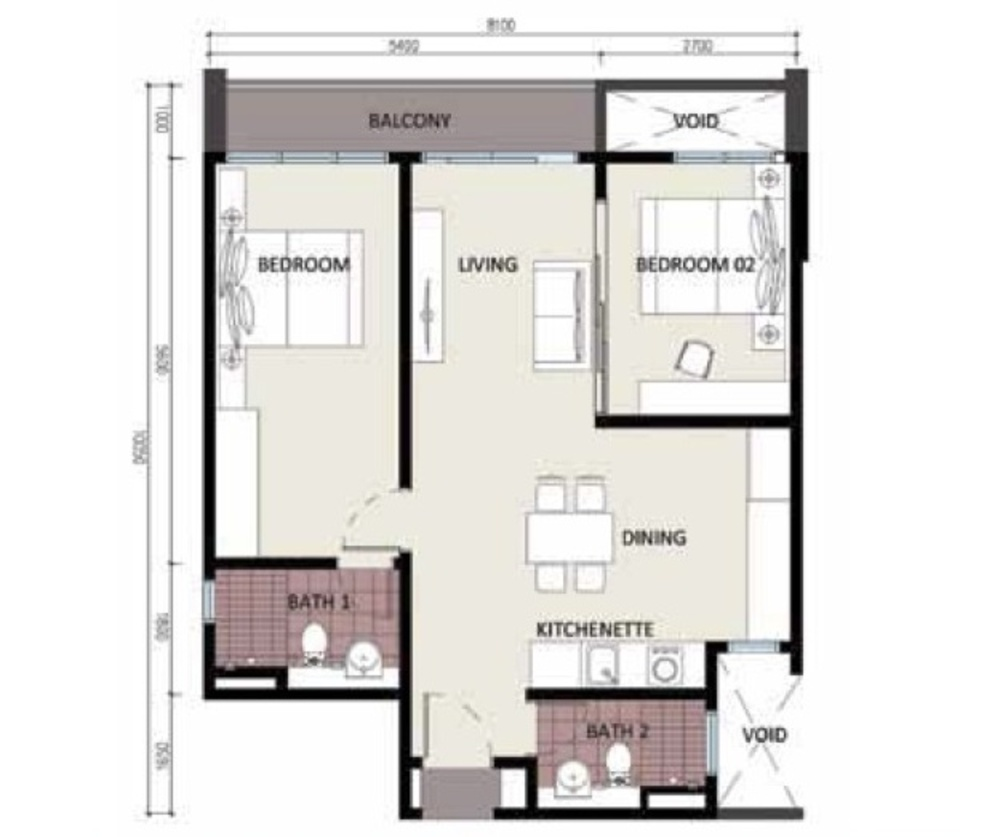 CyberSquare Type A Floor Plan