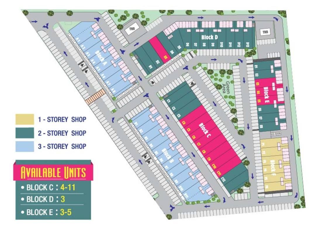 Master Plan of Plaza Crystalville