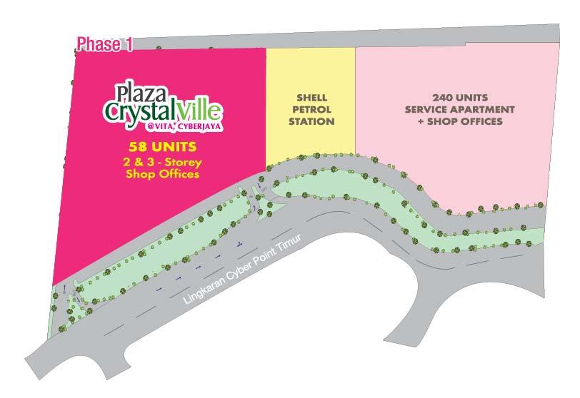 Site Plan of Plaza Crystalville