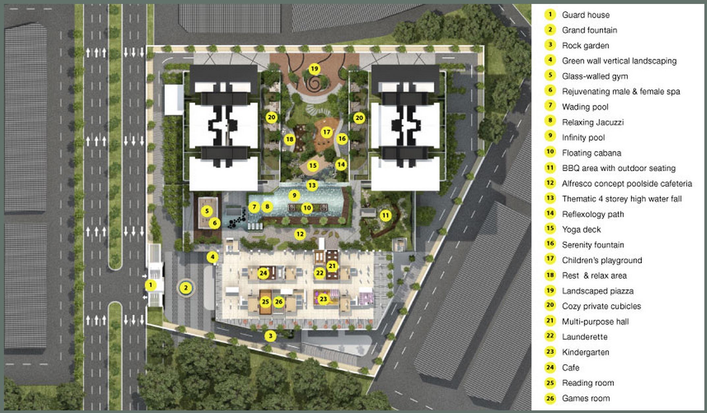 Site Plan of Paragon 3