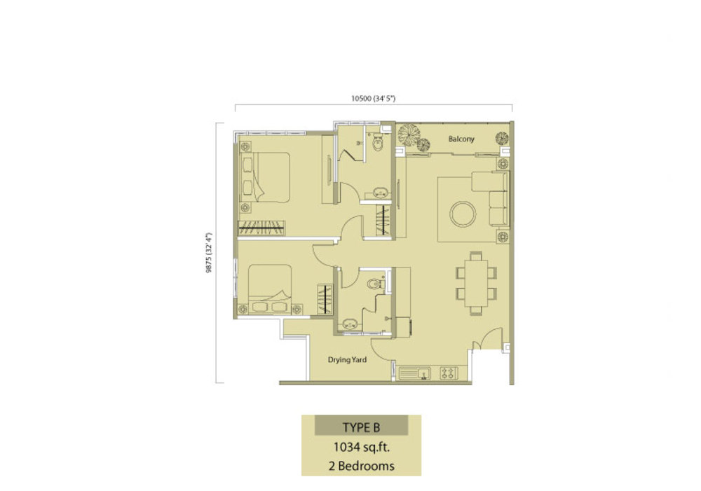 Medalla @ Oasis Corporate Park Type B Floor Plan