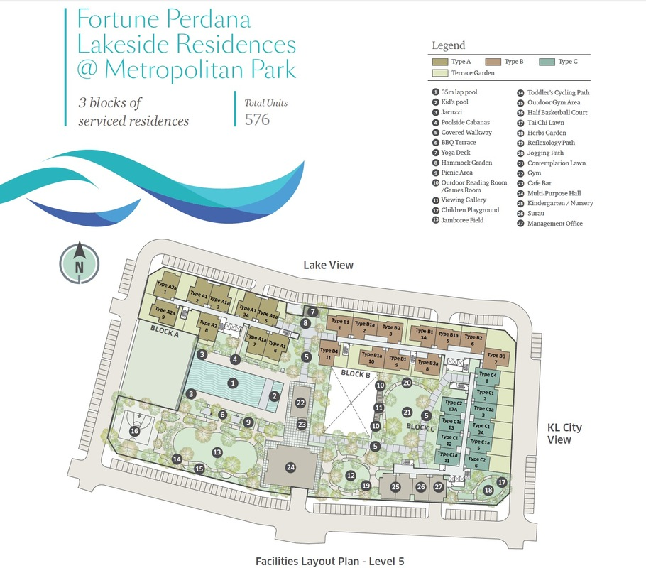 Master Plan of Fortune Perdana Lakeside