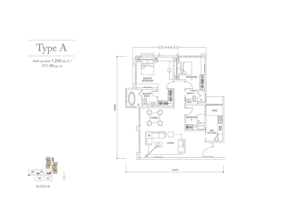 Pavilion Hilltop Type A Floor Plan