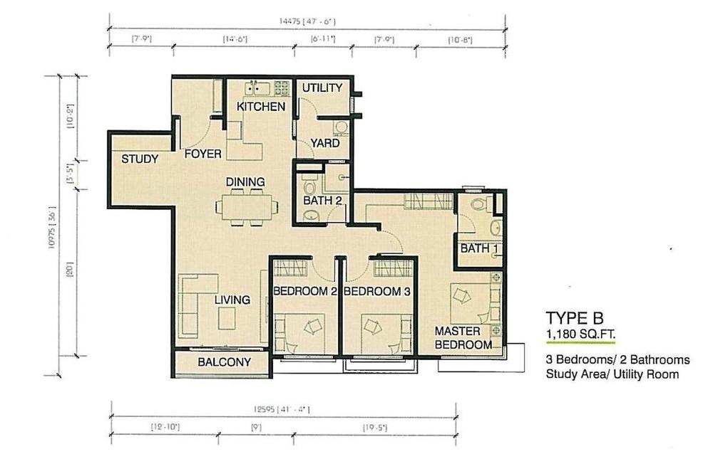 One Imperial Type B Floor Plan