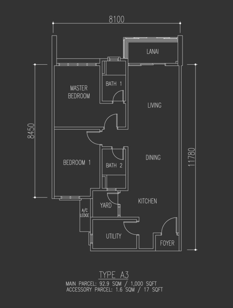 Selayang 18 Type A3 Floor Plan