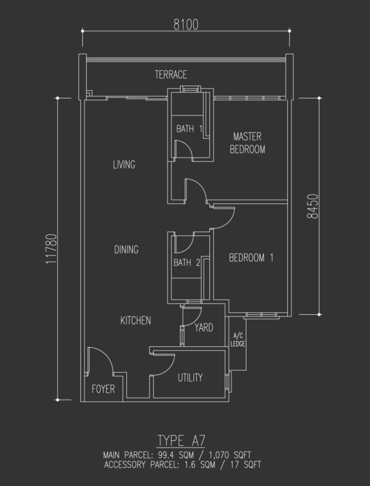 Selayang 18 Type A7 Floor Plan