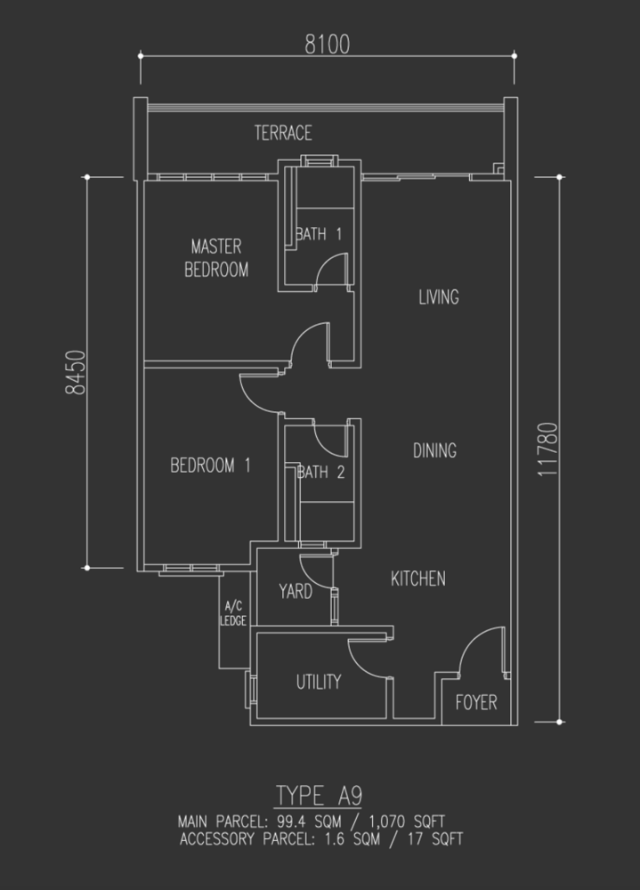 Selayang 18 Type A9 Floor Plan