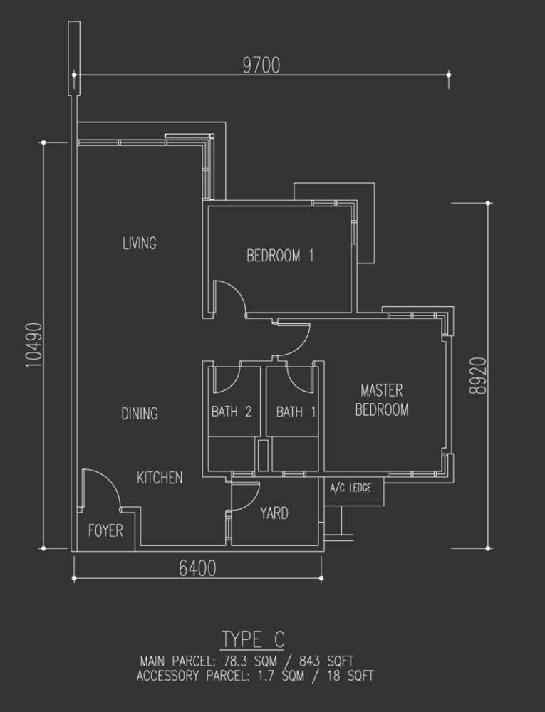 Selayang 18 Type C Floor Plan