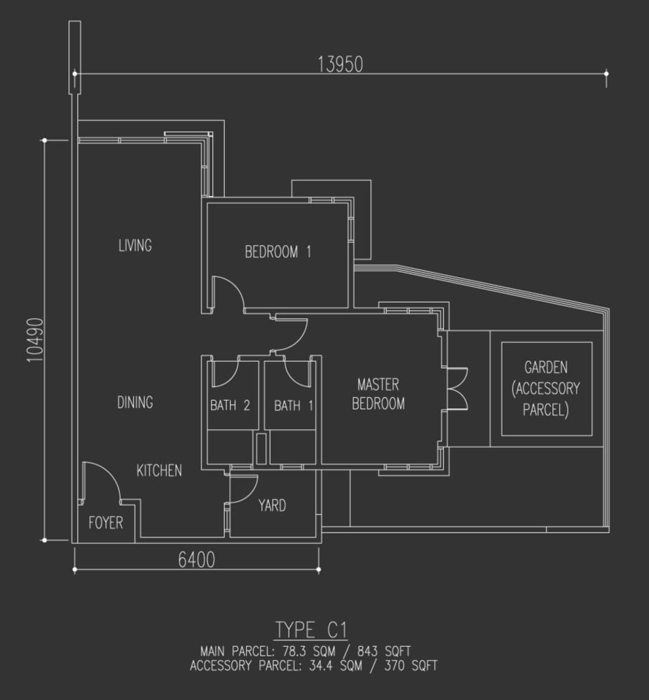 Selayang 18 Type C1 Floor Plan