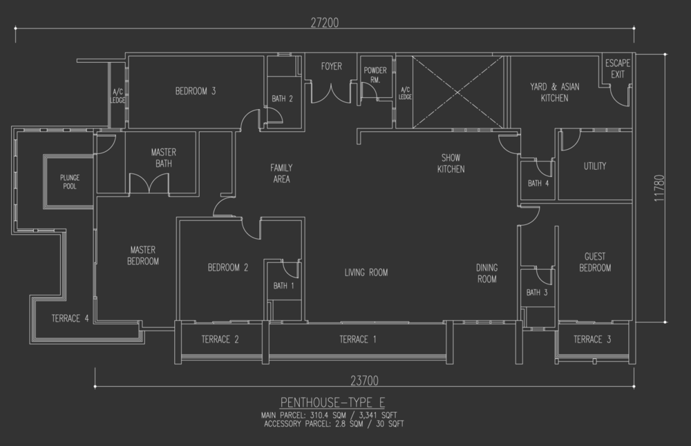 Selayang 18 Penthouse - Type E Floor Plan