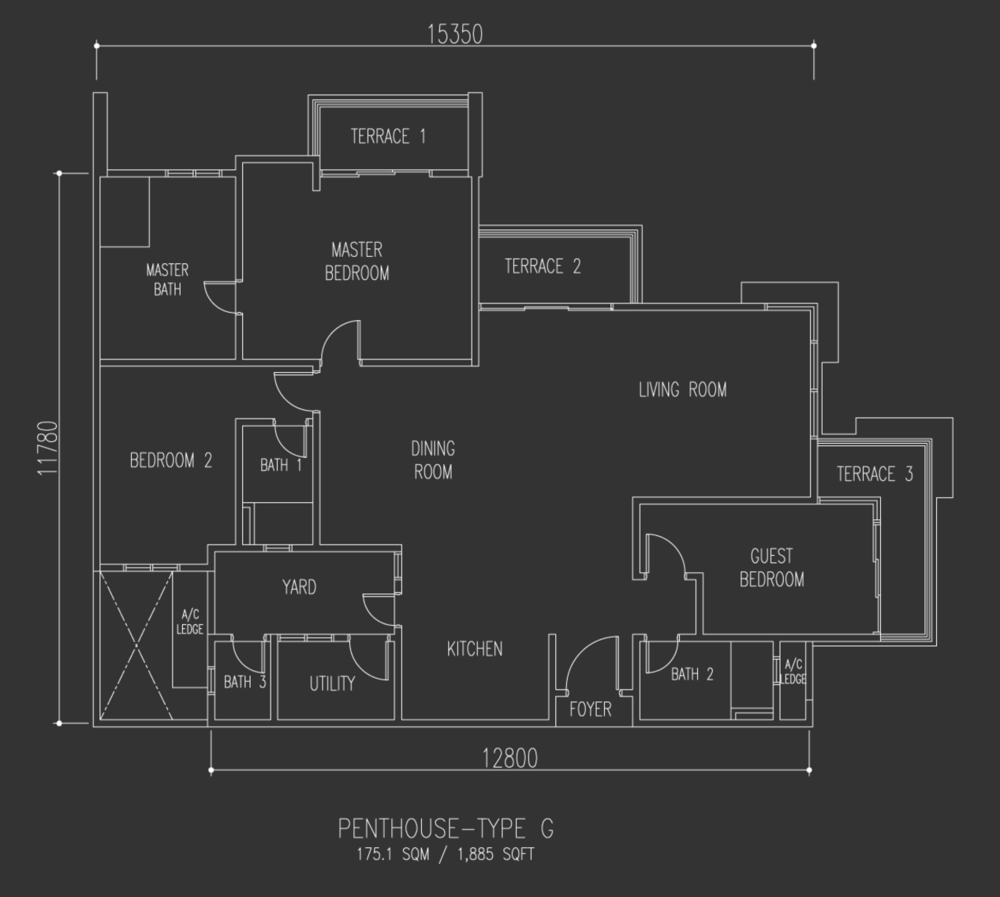 Selayang 18 Penthouse - Type G Floor Plan