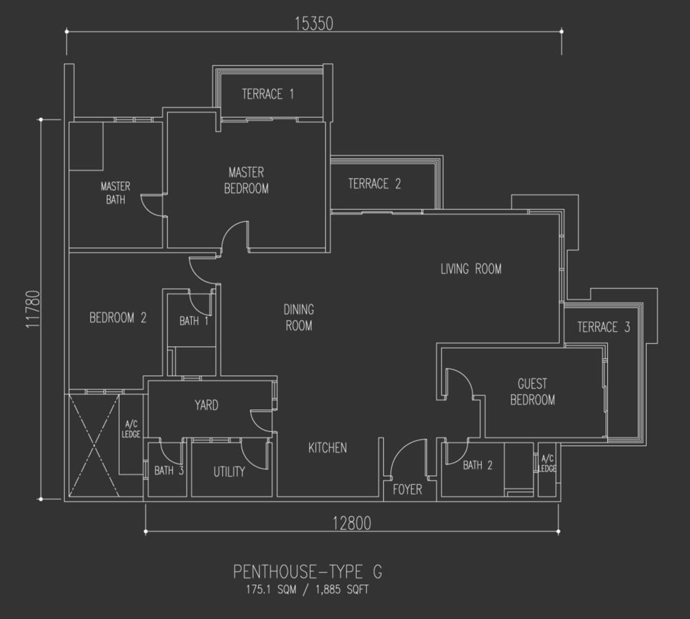 Selayang 18 Penthouse - Type G Floor Plan