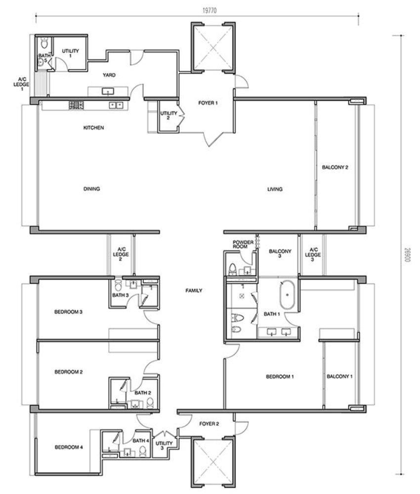 Seri Ampang Hilir Type D Floor Plan