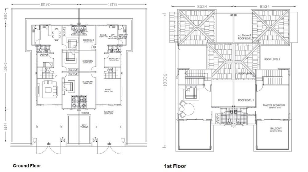Nusa Intan Tropical Ville - Type B Floor Plan