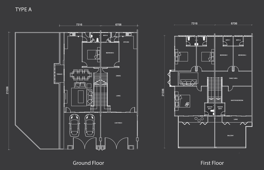Nada Alam Nada 3 - Double Storey Terrace Floor Plan