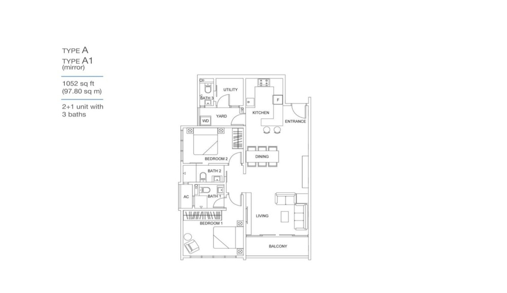 Skyville 8 Type A / A1 Floor Plan