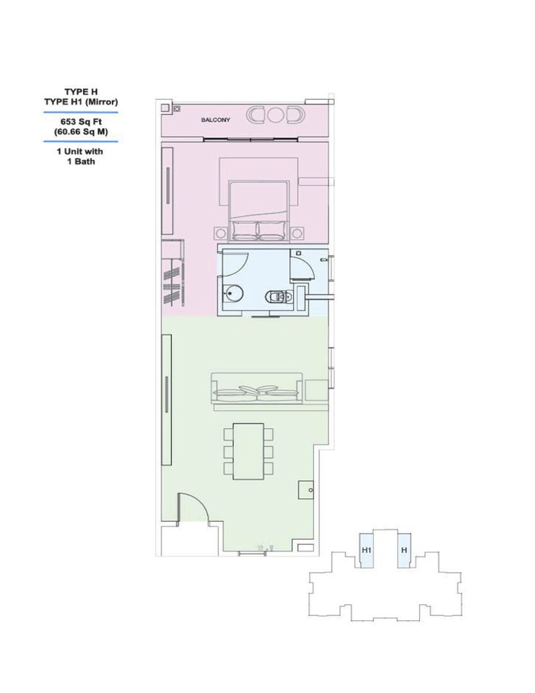 Skyville 8 Type H / H1 Floor Plan