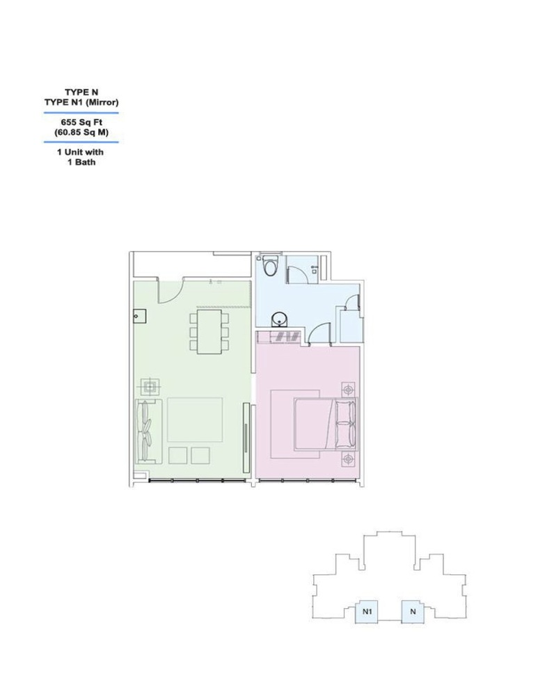 Skyville 8 Type N / N1 Floor Plan