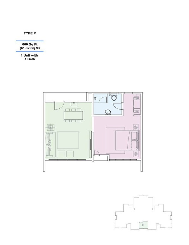 Skyville 8 Type P Floor Plan
