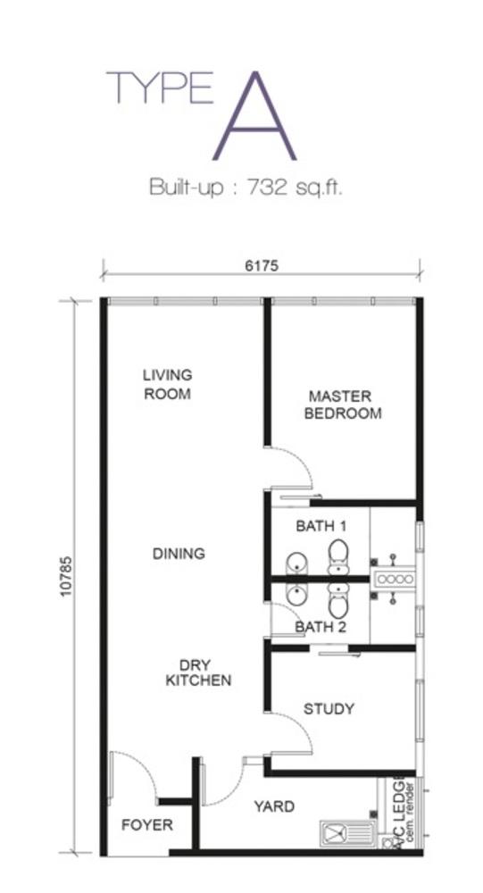 Paragon Residences @ Straits View Type A Floor Plan