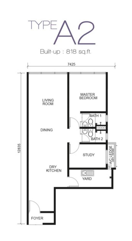 Paragon Residences @ Straits View Type A2 Floor Plan
