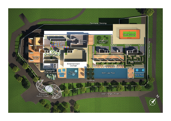Site Plan of Paragon Residences @ Straits View