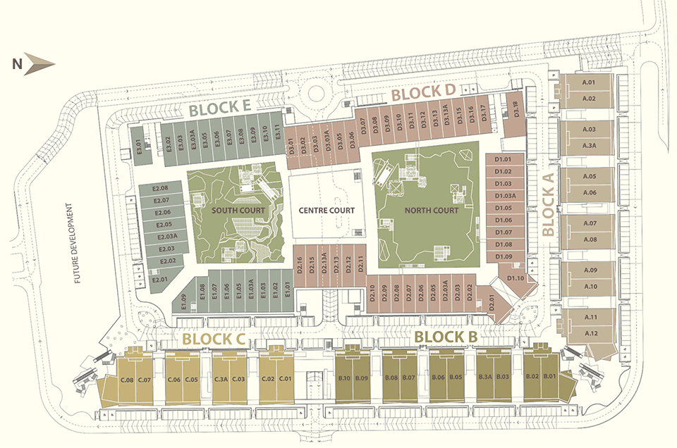 Site Plan of Tamarind Square