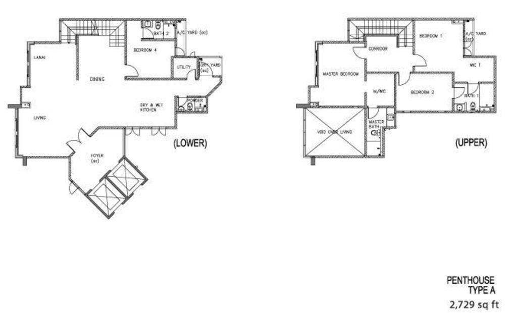 The Clovers Penthouse Type A Floor Plan