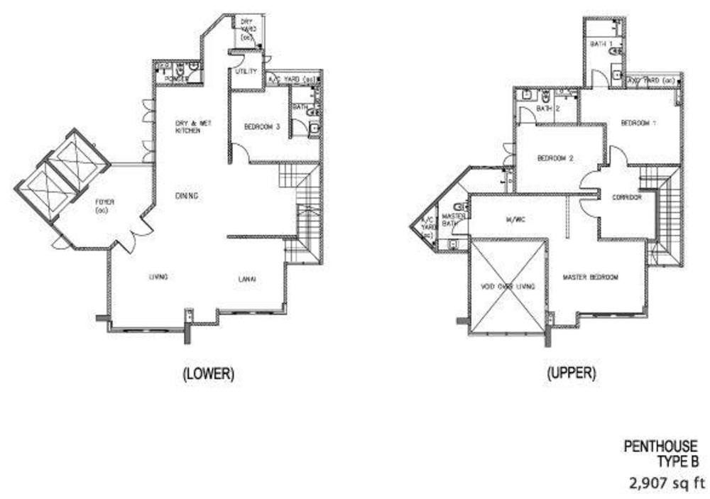 The Clovers Penthouse Type B Floor Plan