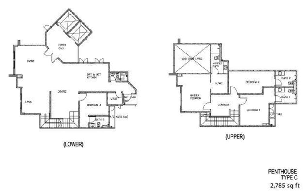 The Clovers Penthouse Type C Floor Plan