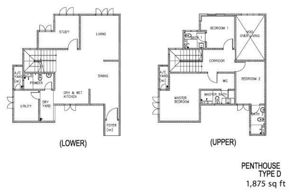 The Clovers Penthouse Type D Floor Plan