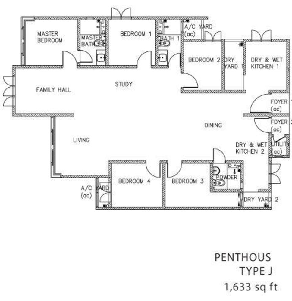 The Clovers Penthouse Type J Floor Plan