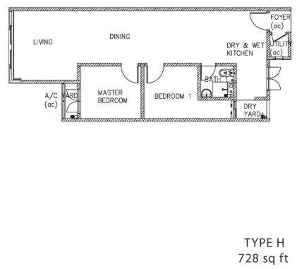 The Clovers Type H Floor Plan