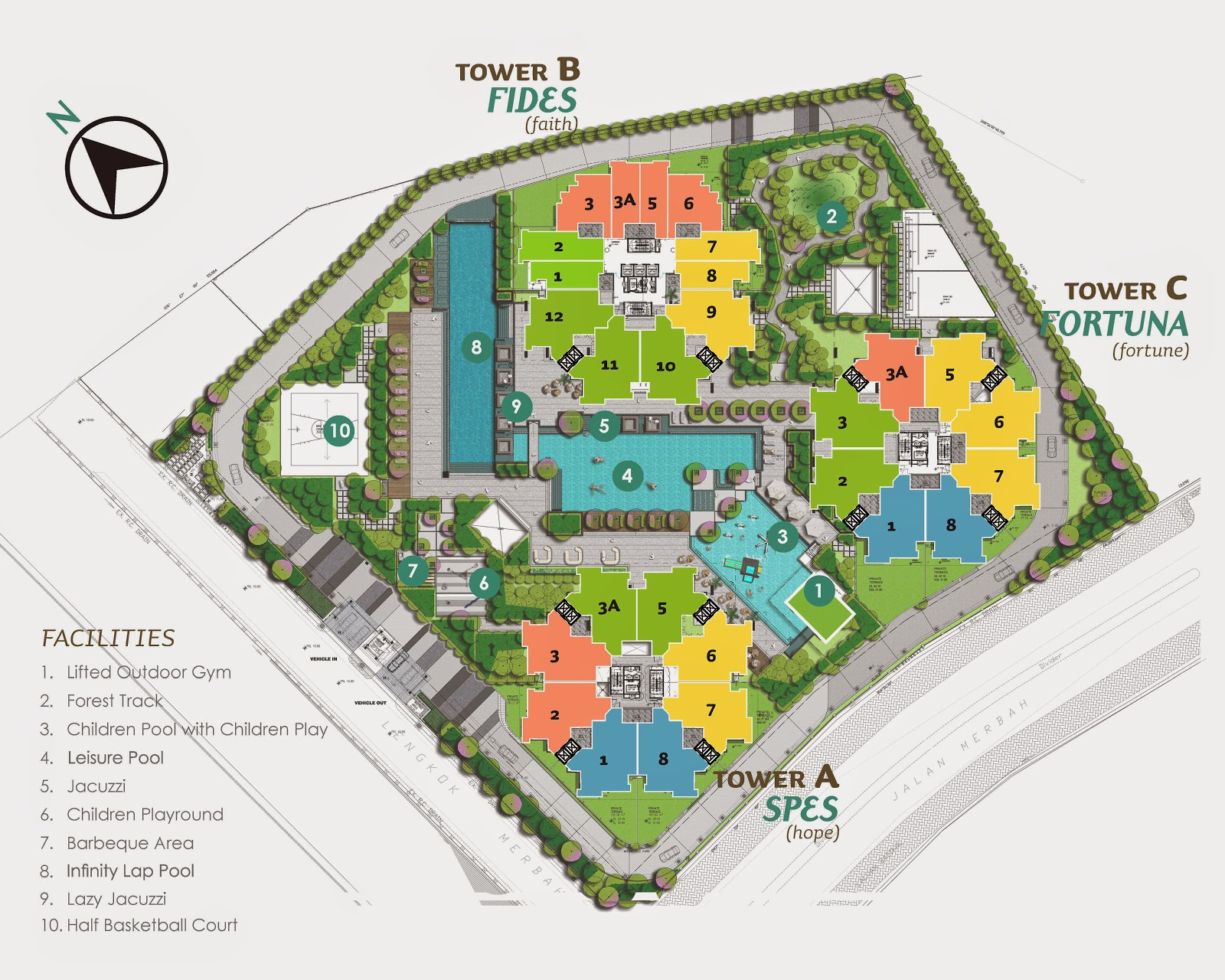 Site Plan of The Clovers