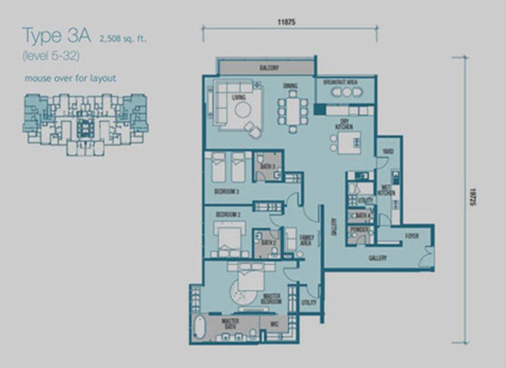 Imperia Type 3A Floor Plan