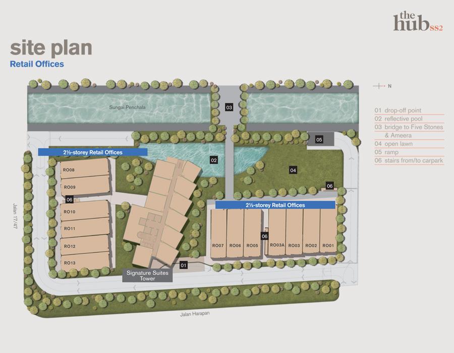 Site Plan of The Hub