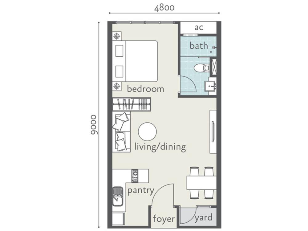 Tropicana Bay Residences Type A Floor Plan