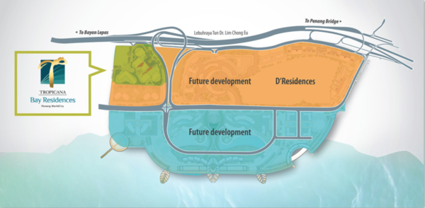 Master Plan of Tropicana Bay Residences