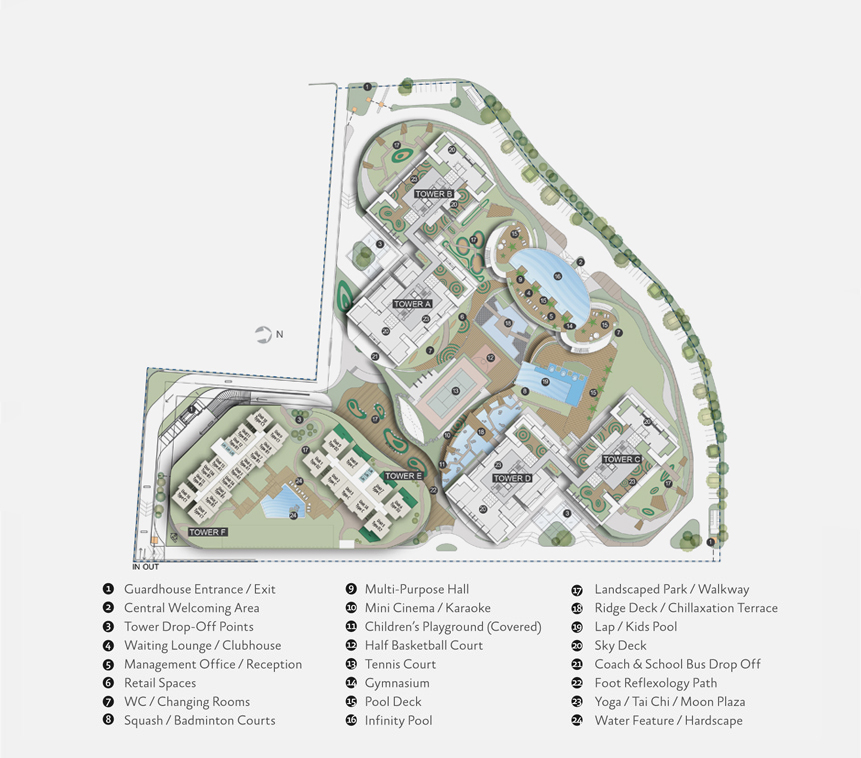 Site Plan of Tropicana Bay Residences