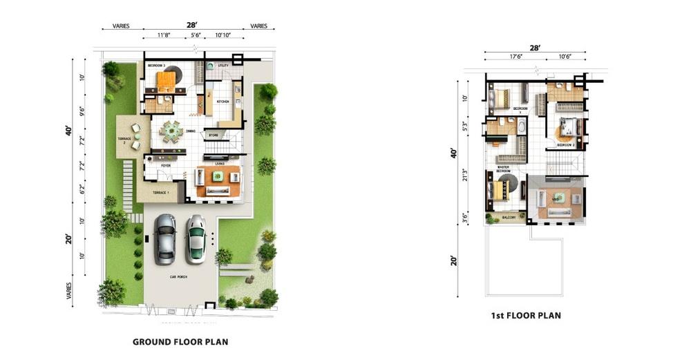 Tropicale Residency Lilac Floor Plan